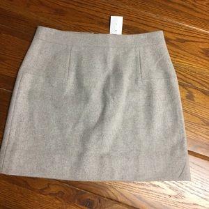 J crew wool mini skirt (NWT)